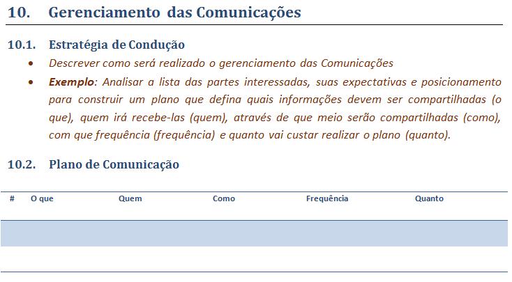 10. Gerenciamento das comunicacoes