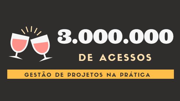 Gestão de projetos na prática: 3 milhões de acessos